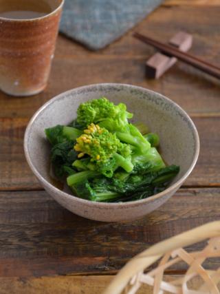 菜の花のおひたし。春らしい和風の副菜。作り置きにも。【農家のレシピ帳】