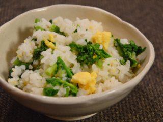 菜の花ごはん。春の味♪黄色&グリーンの色鮮やかな混ぜご飯【農家のレシピ帳】