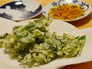 春菊の天ぷら。サクサクに揚げて♪【農家のレシピ帳】
