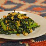 中華風!春菊のカシューナッツ炒め。くせになるおかず♪【農家のレシピ帳】
