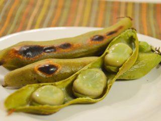 初夏の味、焼きそらまめ。魚焼きグリルで簡単♪おつまみ、副菜に。【農家のレシピ帳】
