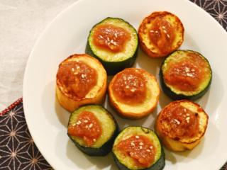 ズッキーニのみそ田楽。フライパンで簡単!副菜に、おつまみに。【農家のレシピ帳】