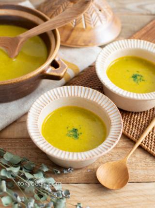 かぼちゃの皮ごとポタージュ。秋らしい、ほっこりスープ!おもてなしに♪【農家のレシピ帳】