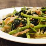 空芯菜と豚バラの中華炒め。箸が止まらない!【農家のレシピ帳】