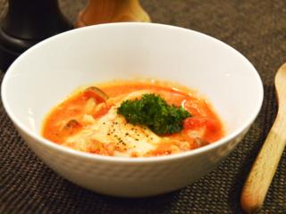 キャベツと鶏肉の豆乳トマト鍋!チーズをたっぷり入れて♡【農家のレシピ帳】