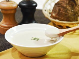 里芋のポタージュ。濃厚で冬らしい一品。【農家のレシピ帳】