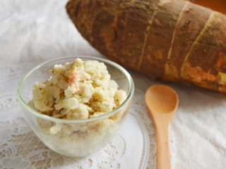 里芋と明太マヨのマッシュサラダ。京芋(たけのこ芋)で作っても♪【農家のレシピ帳】