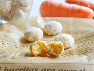 人参のスノーボールクッキー♡上品で優しい味の冬のお菓子。【農家のレシピ帳】