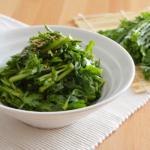 簡単!春菊の中華風サラダ。生の春菊をポン酢とごま油で♪【農家のレシピ帳】