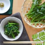 簡単!春菊のゆずこしょう炒め。冬の副菜、あと一品に。【農家のレシピ帳】