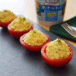 カッテージチーズのトマトカップサラダ。ひとくち前菜♪【農家のレシピ帳】(PR)