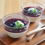 ブルーベリーの豆乳ブラマンジェ。スローカロリーシュガーで作る♪【農家のレシピ帳】(PR)