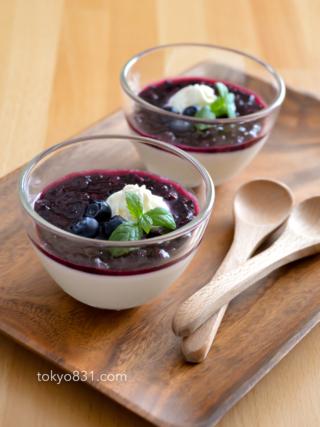 とろける!ブルーベリーの豆乳ブラマンジェ。スローカロリーシュガーで♪【農家のレシピ帳】(PR)