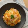 バターナッツかぼちゃのクリームパスタ。ほっこりランチに。【農家のレシピ帳】