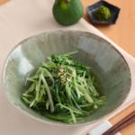 水菜のゆずこしょう和え。レンジで簡単!【農家のレシピ帳】