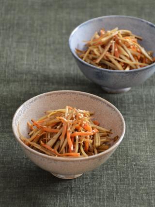 レンジで時短!中華風きんぴら。豆板醤でピリ辛に。【農家のレシピ帳】