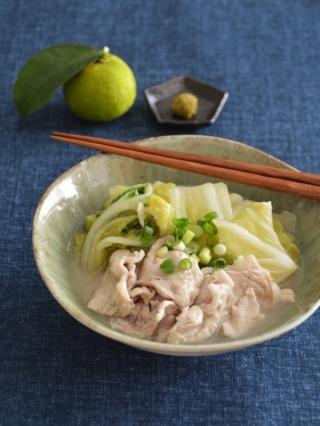 とろける!白菜と豚肉のゆずこしょう煮。【農家のレシピ帳】