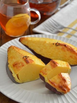 おおきなスイートポテト。丸ごとサツマイモ!秋のスイーツ。【農家のレシピ帳】