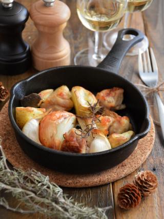 焼くだけ簡単!チキンと野菜のオーブン焼き。ワインに合う♪【農家のレシピ帳】