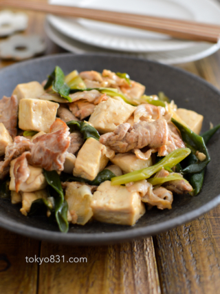 豚肉と豆腐と長ねぎの炒めもの。ご飯が進む、簡単おかず!【農家のレシピ帳】