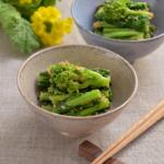菜の花のごま和え。春らしい和風の副菜。作り置きにも!【農家のレシピ帳】