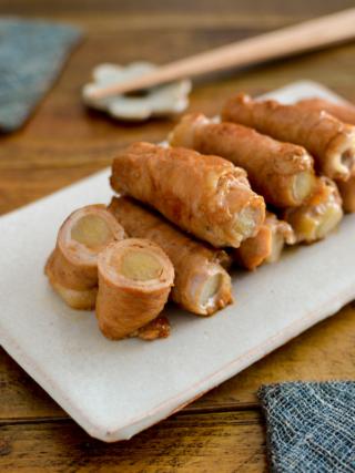 うどの肉巻き。春らしい簡単おかず♪夕食やお弁当、作り置きに。【農家のレシピ帳】